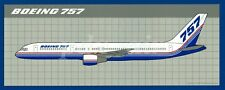 @ 1989 THE BOEING COMPANY 757 RED & BLUE AIRCRAFT LIVERY STICKER