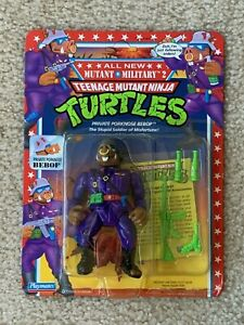 TMNT 1992 Ninja Turtles Mutant Military Private Porknose Bebop Action Figure MOC
