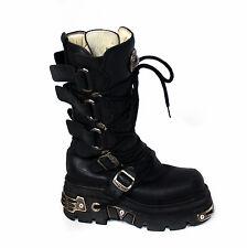 NEW ROCK REACTOR Black Leather Boots EU 39 /US 8.5/ UK 6