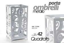 PORTA OMBRELLI IN METALLO BIANCO QUADRATO 22*42 CM JSD-727559