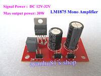 DC 12V-32V 24V LM1875 Mono 30W Power Audio Amplifier Board Amp Super TDA2030