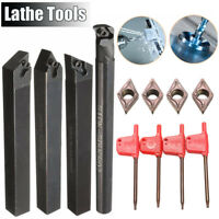 4 Set Of 10mm Lathe Boring Turning Tool Holder + 4x Lot DCMT0702 Inserts
