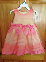 NWT Bonnie Baby Toddler Little Girl's Size 24 Mo Special Occasion Easter Dress