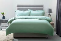 200 Thread Count Egyptian Cotton Bed Linen in Thyme Green All Sizes