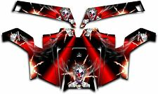Polaris RZR 900 XP UTV Wrap Graphics Decal Kit 2011-2014 Pyro The Clown Red