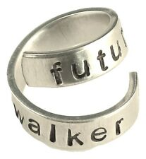 Future Walker - Walking Dead Inspired - Adjustable Twist Wrap Aluminum Ring