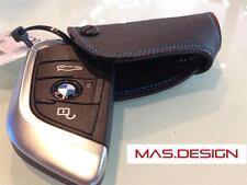 2015 on BMW X5 (F15) X6 (F16) Leather Key Case in Black with M Power stitch