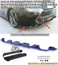 OE-Style Rear Diffuser + A-Style Rear Lip Aprons Fits 12-16 Scion FR-S Toyota 86