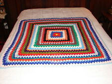 NEW Handmade Handcrafted Crochet Afghan Throw Blanket ~ very nice granny square
