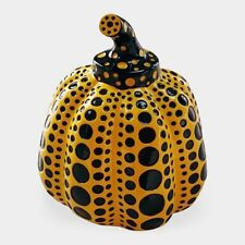 NEW Yayoi Kusama Pumpkin Japan Artist Paperweight Object Sculpture Yellow