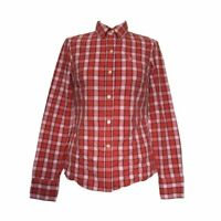 Jack Wills Check Shirt Size 8 Pink & Red Womens XS Extra Small Plaid Blouse Top