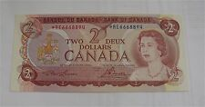 1974 Canada $2 Dollars Banknote Prefix *RE replacement note UNC BC - 47aA