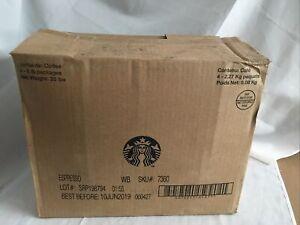 20 Lb Starbucks Coffee Espresso Pike Place Roast Whole Bean 4 Bags x 5 Lb