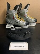 Bauer Vapor X:30 Silver / Red / Black Hockey Skates Youth Size 12 Pre-Owned
