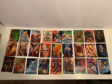 1993 Marvel Masterpieces Full Base Set 1-90 & 7 foil cards M/NM Condition