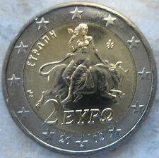 Greece 2 euro  2002 s Abduction of Europe by Zeus  KM# 188  UNC From Roll