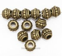 30pcs Retro Style Bronze Tone Zinc Alloy Metal Loose Spacer Beads for Craft