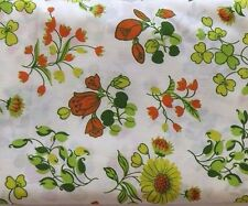 """Vintage Everfast 6 Yards Cotton Blend Fabric Floral Pattern 44"""" x 216"""""""
