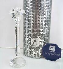Swarovski Silver Crystal - Tall Flower Candle Holder - 7600 - w/ Box ~#3663