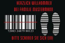 Fußmatte Barcode Bodenmatte Türvorleger Name Individuell Scannen Kassierer Kasse