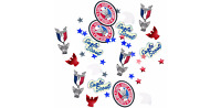 Boy Scout Eagle Scout Court of Honor Confetti Patch Star Medal Red White & Blue
