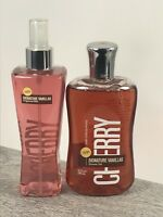 NEW! Bath & Body Works CHERRY Summer VANILLA Fragrance Mist and Shower Gel set