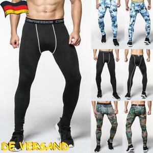 Herren Kompressionshose Leggings Leggins Laufhose Training Fitness Gym Sporthose