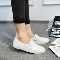 Women's Summer Breathable Loafers Soft Leather Driving Shoes Casual Slip On Flat