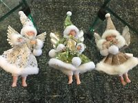 CHRISTMAS TREE ANGEL DECORATION HANG ELEGANT GLASSY BEAUTIFUL FUN WARM