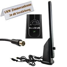 Radio Zimmerantenne ★ 30dB Verstärkung FM AM UKW MW Stab Antenne 88 - 108 MHz ◀︎