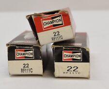 Set of 3 Spark Plug Champion Spark Plug RF11YC #22