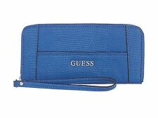 Guess Blue ziparound wristlet purse 💯% authentic