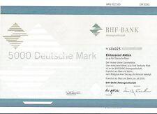 BHF Bank Aktiengesell.Frankfurt 1995 ING Group Oppenheim 1000 x 5 DM Sammelaktie