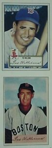 1988 TED WILLIAMS BASEBALL CARDS MAG 2-CARD PANEL INSERT(52 TOPPS & 54 BOWMAN