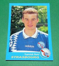 N°340 YANNICK ROTT RC STRASBOURG RCS MEINAU PANINI FOOT 96  FOOTBALL 1995-1996
