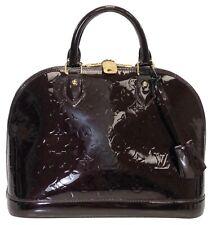 Louis Vuitton Vernis Alma PM in Amarante Top Handle Satchel Handbag
