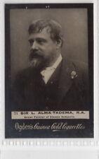 Vintage 1901 Photograph Card of Belgian artist Lawrence Alma-Tadema