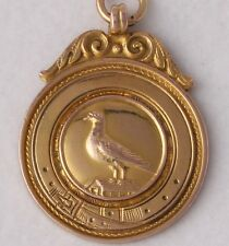 9ct Gold Pigeon Racing Medal Medallion Fob Everton & Crowther Winner 1936
