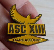 PIN'S RUGBY A XIII 13 BLASON CLUB CARCASSONNE
