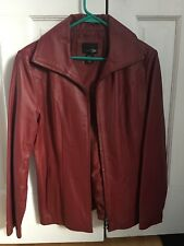 genuine leather jackets for women red