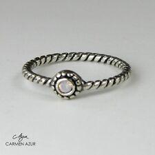 Solid 925 Silver Midi Ring Made with Swarovski Crystal La Crystale inc Gift Bag