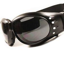 Motorcycle Biker Riding Black Cool Foam Back Padded Strap Goggles Sunglasses E31