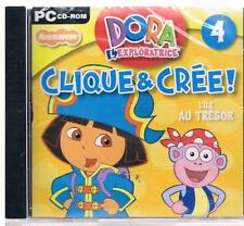 jeu pc : dora l'exploratrice, clique et crée : l'île au trésor