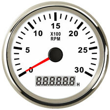 85mm White Tachometer 0-3000RPM for Gasoline Diesel Engine 9V-32V Free Shipping