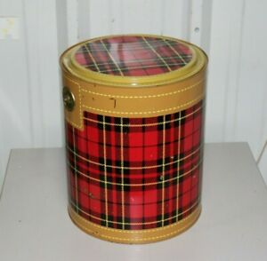 VINTAGE 1950's The Skotch Kooler - Red Plaid 4 Gallon Deluxe by Hamilton