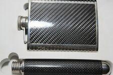 Carbon Fiber Looking Flask set
