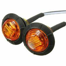 """12v 24v Amber Red 3/4"""" Bullet Clearance Side Marker Truck Trailer LED Lights"""
