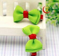 New Pet Dog Cat Hair Bow Clip Dog Party Festival Christmas Hair deco - Light Gr