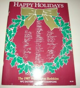 WASHINGTON REDSKINS Playoffs December 1987 GameDay Program