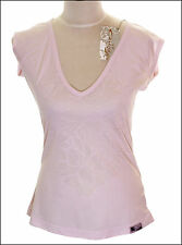 BNWT WOMEN'S OAKLEY KICKBACK CAP SLEEVE T SHIRT MEDIUM UK12 NEW PINK PETAL